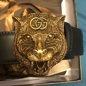 Gucci Feline Gucci Belt